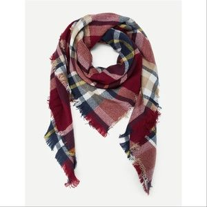 Multi-Colored Ultra Plush Plaid Blanket Scarf